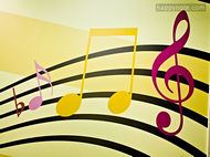 music background for the game Sheet Music Treble Clef and Bass Clef HN